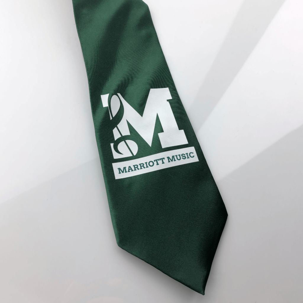 marriot elementary school music green tie designed by dynamic local.